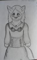 Anthro charecter sketch by Lockian