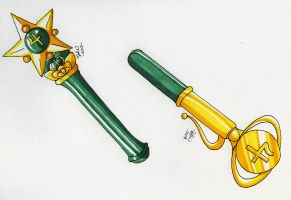 Sailor Jupiter Henshin Pens by tini