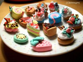 dessert clay charms by hleexyooj