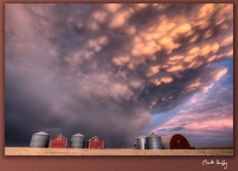 Storm Chasing Canada Sunset by pictureguy