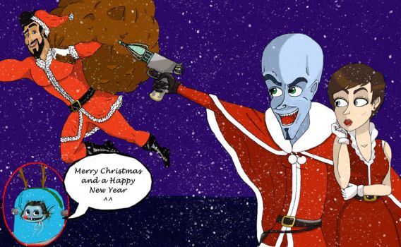 Megamind Christmas by Esthervampire