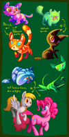 cats n ponies painting practice by WizardWannabe