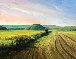 Silbury Hill, early morning by NewAgeTraveller