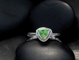 Peridot Trillion Sterling Ring by tinkerSue