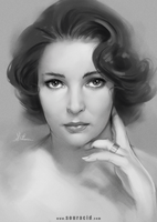 Elizabeth Taylor by SourAcid