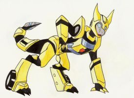 Bio-Cybertronian Bumblebee by CelestialTentails