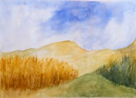 Watercolor landscape by Aralon