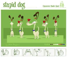 Dog Character Model Sheet by kidoho