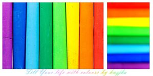 Fill your life with colour by kuzjka