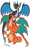 Mega Charizard by StrawberrieMew
