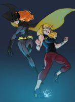 YJ Batgirl and Wondergirl by denz999