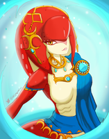 Mipha Sketch - The LoZ Breath of the Wild by Dejaguar
