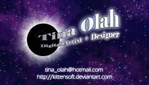 Business Card....in SPACE by Kittensoft