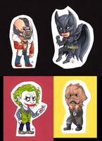 BATMAN And Foes by SlushiOwl