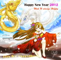 Happy Dragon year by sporegift