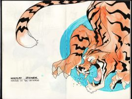 Tiger from my book by Mikolajj