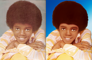 Little MJ before and after by Ademdesign by AdemDesign