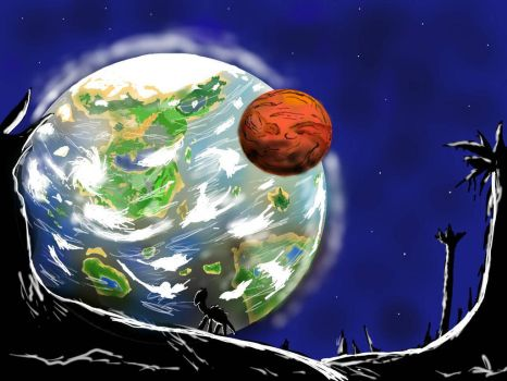 Android tablet art:Second Earth by ShinyLoot