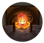 Calcifer Button by Shinyako