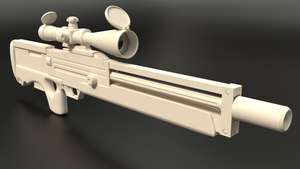 Walther WA-2000 Rifle (Clay Render) #2 by MatchSignal3D