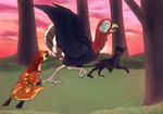 Collab : Turkey Chase by Orso-chan