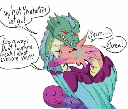 Snakevy's new friend by Artdirector123