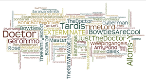 Big Doctor Who Wordle Cloud by parisgirl126