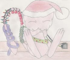 Christmas Mew by 1Meh1