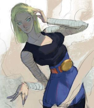 Android 18 by Ramonn90