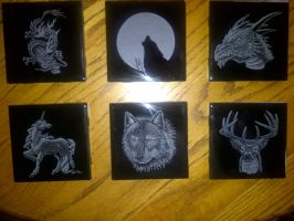 Etched Coasters by ckatt01