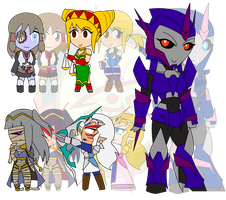 Assorted Chibis - Undead and Unphased by Dragon-FangX