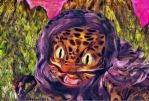 Naked girl transformation to anthro leopard TF 4 by Cyberalbi