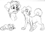 Sketches. Puppies by Mimi-fox