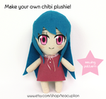 Chibi human plush sewing pattern by TeacupLion
