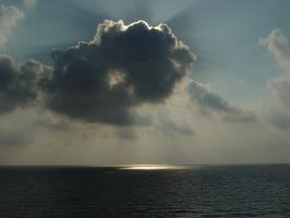 sun behind the cloud by Spoilerizzz