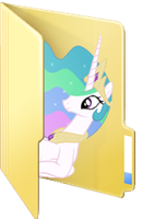 Custom Celestia folder icon by Blues27Xx