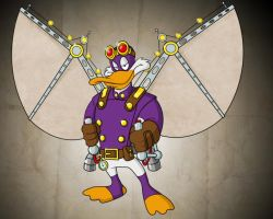 Steampunk Darkwing Duck by payno0