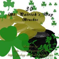 St. Patrick's Day Brushes by firebug-stock