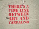 Art and vandalism by abigay