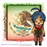 Hetalia chibi Mexico postal by chaos-dark-lord