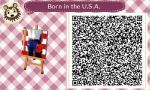 Animal Crossing: NL QR Born in the U.S.A. Wall Art by misterzero