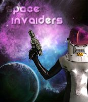 Space Invaiders Movie Poster by playcanon