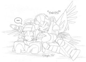 TFChibis - Red Alert and Finch by straya