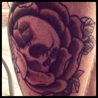 skullinrosetattoo by WillemXSM