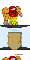 Metroid: Samus vs. a Door Pt.2 by doodlegarmander