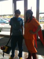 Anime Banzai 2012 John and Vriska by Fainting-Ostrich