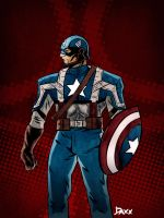 Captain America by daxxbondoc