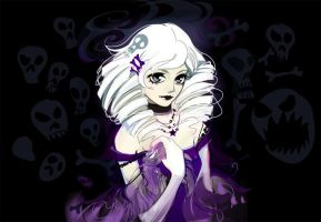 anime girl dark gothic by LimKis