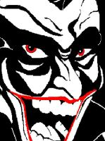 Abstracted Frank Miller Joker by ClownGirlHarley