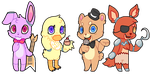 Five nights at freddy's :gif: by puqqie